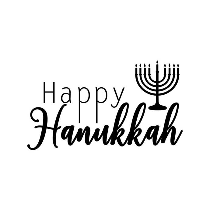 Happy Hanukkah Letter Phrase Sign Word Graphics SVG Dxf EPS Png Cdr Ai Pdf