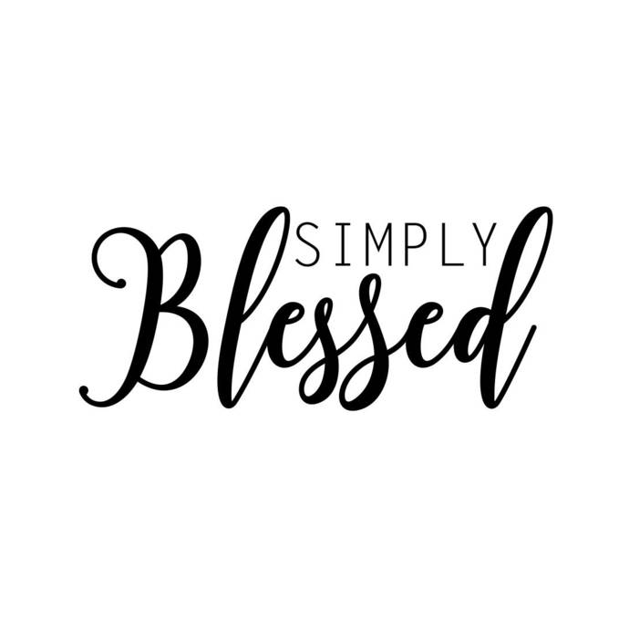 Simply Blessed Phrase Graphics SVG Dxf EPS Png Cdr Ai Pdf Vector Art Clipart