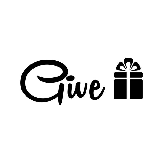 Give Gift Box phrase Graphics SVG Dxf EPS Png Cdr Ai Pdf Vector Art Clipart