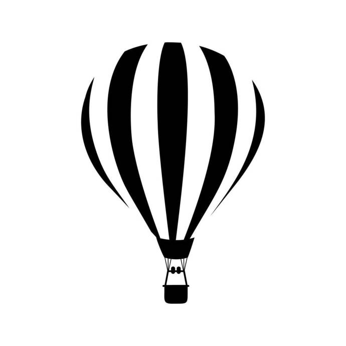 Air Ballon Flight Fly Graphics SVG Dxf EPS Png Cdr Ai Pdf Vector Art Clipart