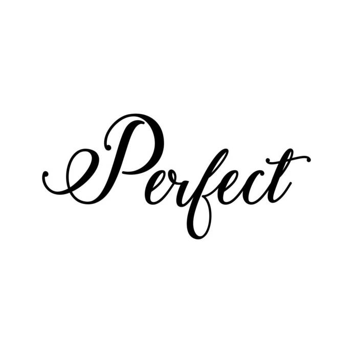 Perfect letter Phrase Graphics SVG Dxf EPS Png Cdr Ai Pdf Vector Art Clipart