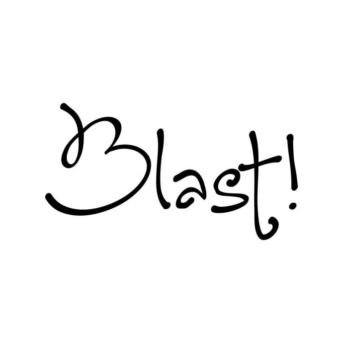 Blast letter Phrase Graphics SVG Dxf EPS Png Cdr Ai Pdf Vector Art Clipart