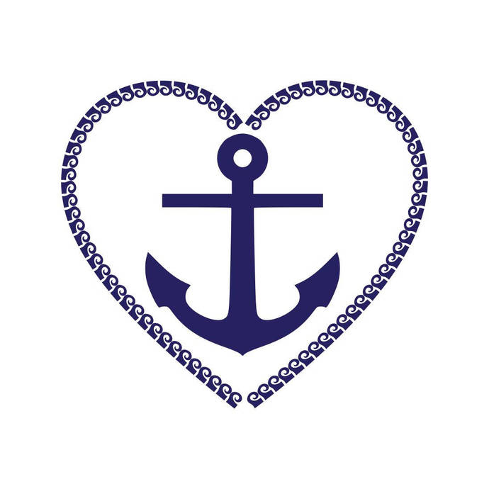 Anchor Frame Heart Graphics SVG Dxf EPS Png Cdr Ai Pdf Vector Art Clipart