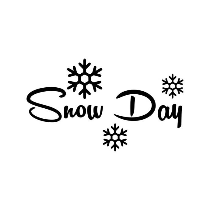 Snow Day Snowflake Christmas Phrase Graphics SVG Dxf EPS Png Cdr Ai Pdf Vector