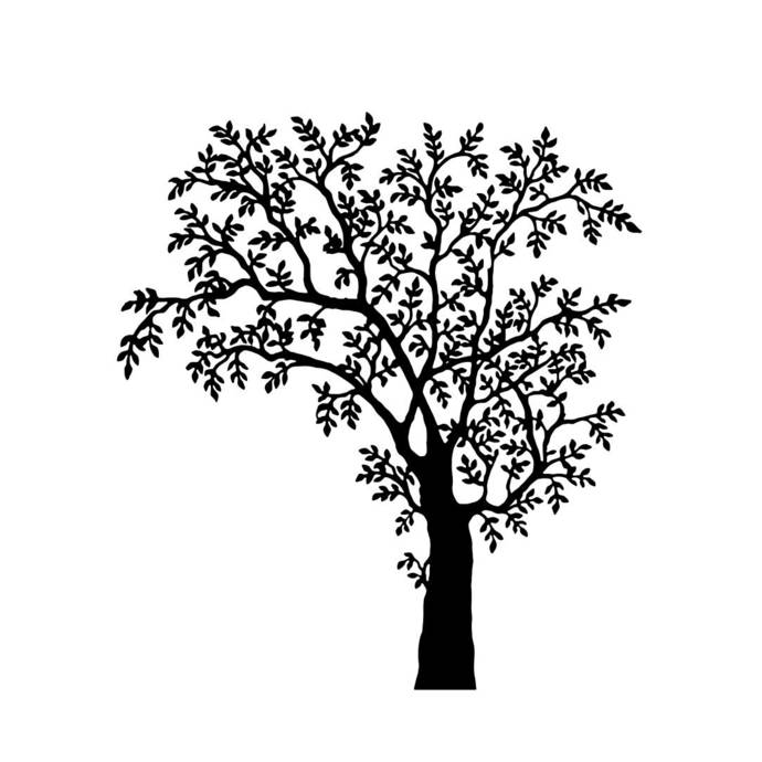 Tree Plant Graphics SVG Dxf EPS Png Cdr Ai By Vectordesign