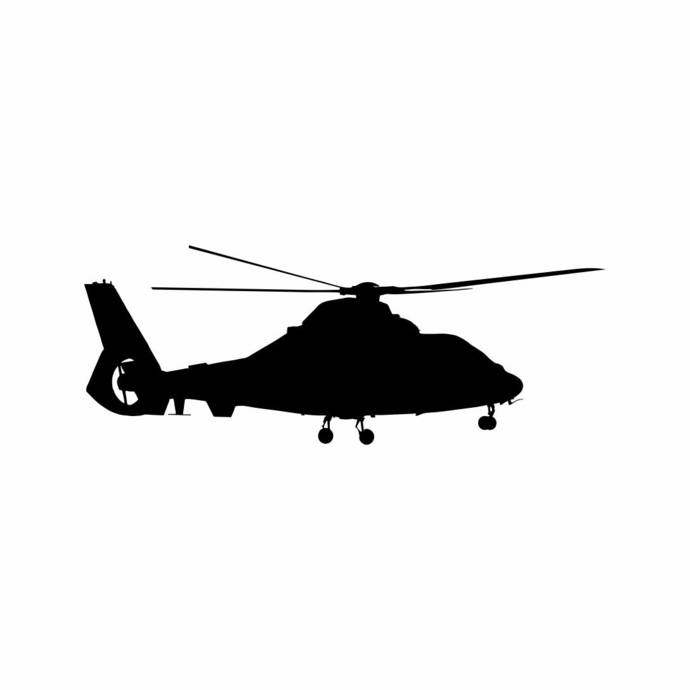 Aircraft Flying Helicopter Military Graphics SVG Dxf EPS Png Cdr Ai Pdf Vector