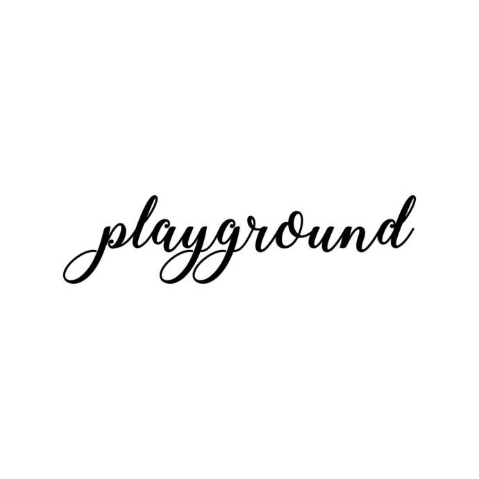 playground Letter Phrase Graphics SVG Dxf EPS Png Cdr Ai Pdf Vector Art Clipart