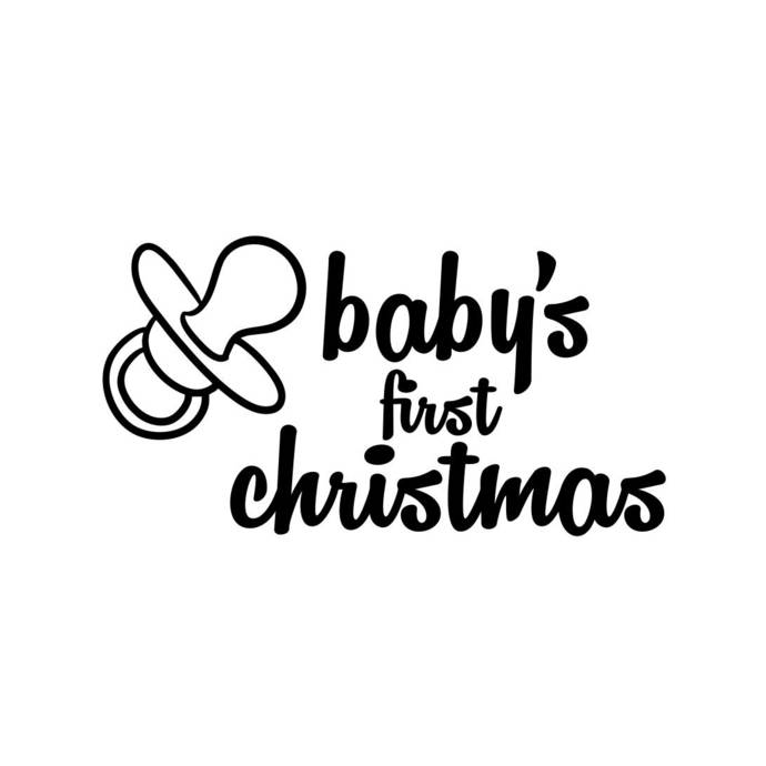 babys first christmas letter phrase Graphics SVG Dxf EPS Png Cdr Ai Pdf Vector