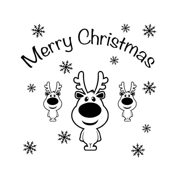 Merry Christmas Deer Snowflake Graphics SVG Dxf EPS Png Cdr Ai Pdf Vector Art