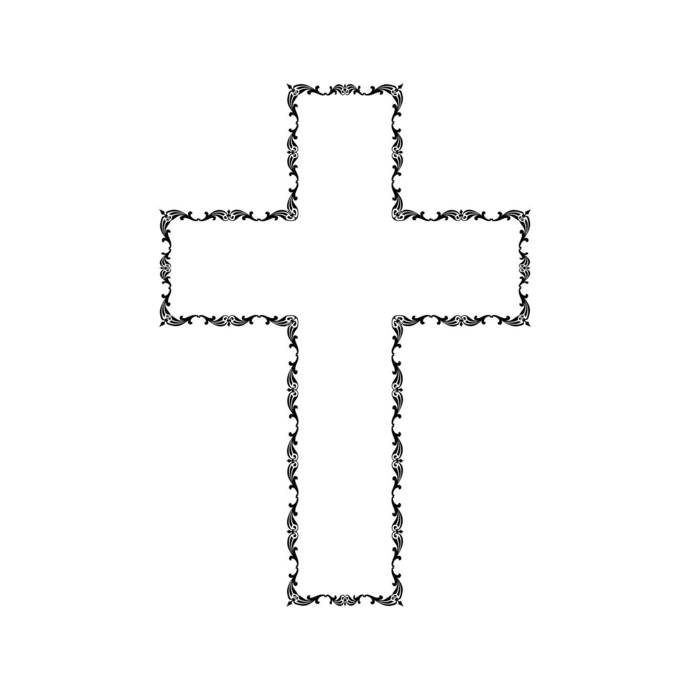 Victorian Cross Jesus God Faith Graphics SVG Dxf EPS Png Cdr Ai Pdf Vector Art