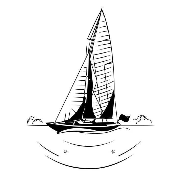 Sailing boat Ship Graphics SVG Dxf EPS Png Cdr Ai Pdf Vector Art Clipart instant