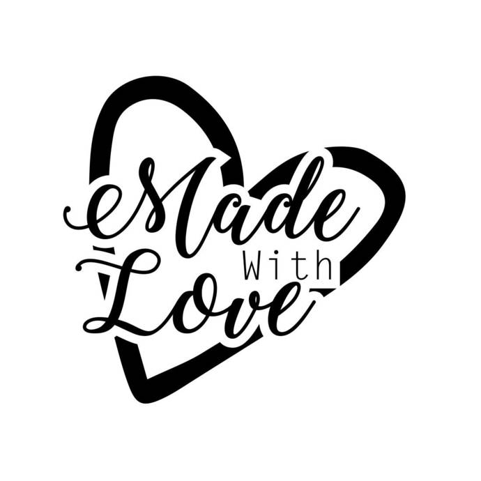Made with Love Phrase Graphics SVG Dxf EPS Png Cdr Ai Pdf Vector Art Clipart
