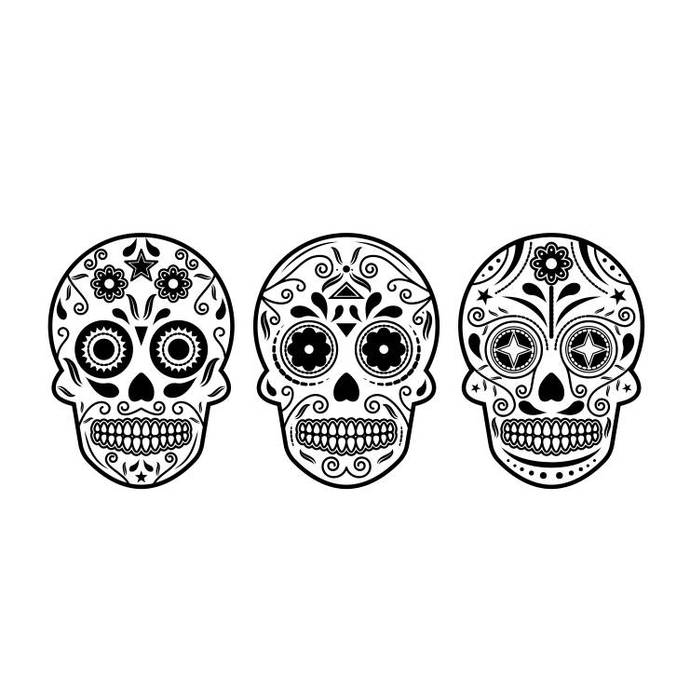 Sugar skull halloween Graphics SVG Dxf EPS Png Cdr Ai Pdf Vector Art Clipart