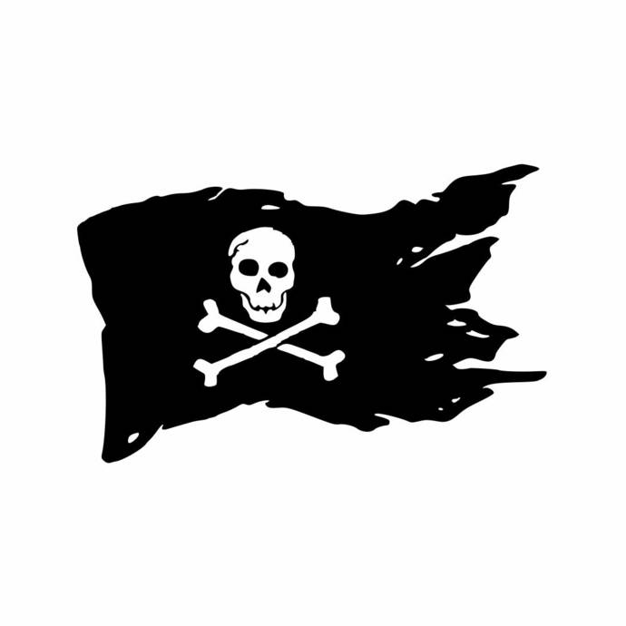 Bones Flag Pirate Graphics SVG Dxf EPS Png Cdr Ai Pdf Vector Art Clipart instant