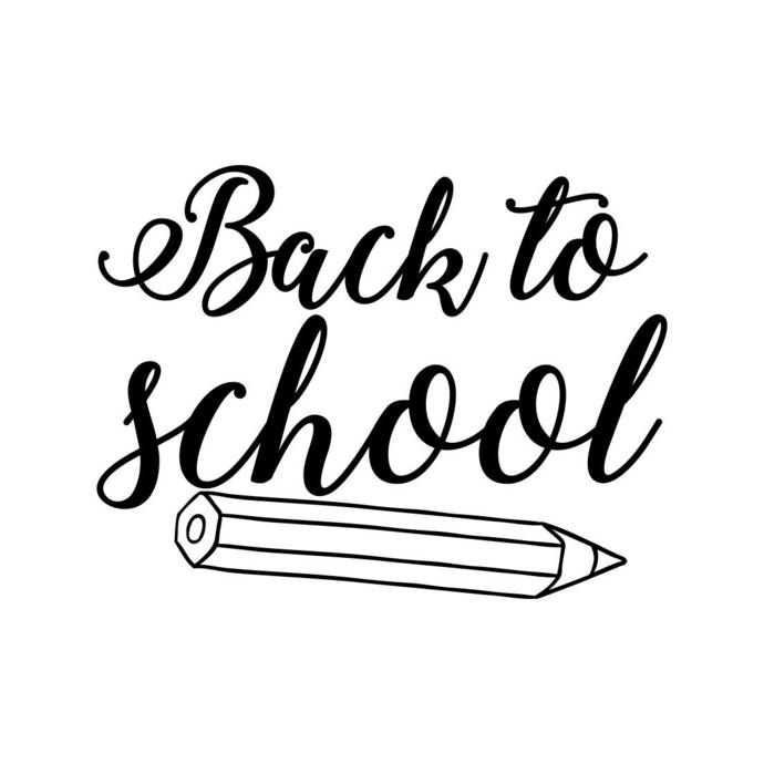 Back to school pencil Phrase Graphics SVG Dxf EPS Png Cdr Ai Pdf Vector Art