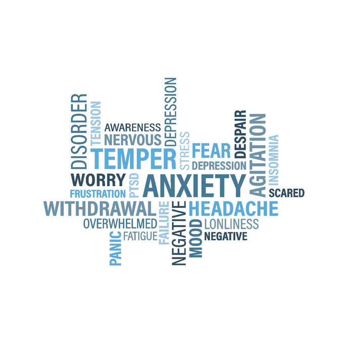 Anxiety Word Cloud Word Chronic Ability Graphics SVG Dxf EPS Png Cdr Ai Pdf