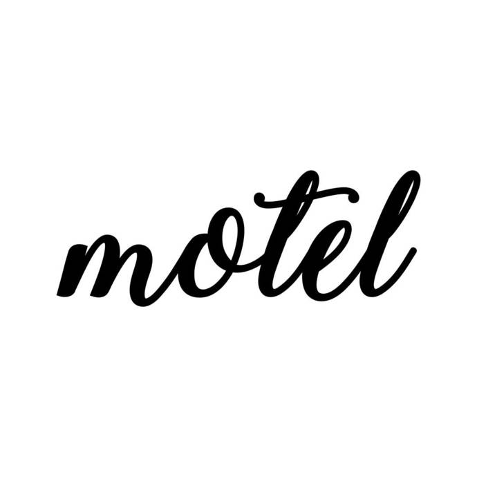 motel Phrase Graphics SVG Dxf EPS Png Cdr Ai Pdf Vector Art Clipart instant