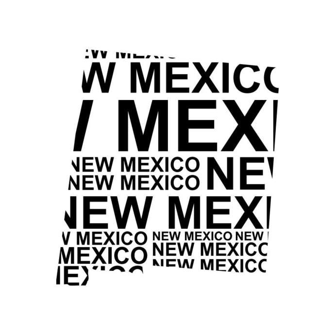 New Mexico Word Map America Graphics SVG DXF EPS Png Cdr Ai Pdf Vector Art