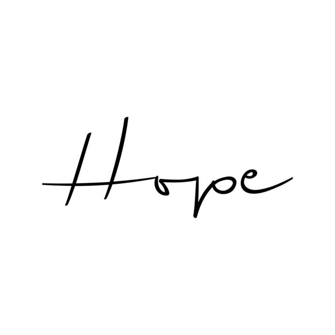 Hope Word Phrase Graphics SVG Dxf EPS Png Cdr Ai Pdf Vector Art Clipart instant