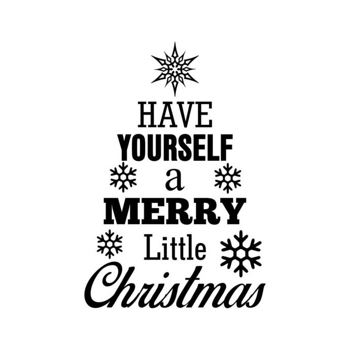Have yourself a merry little christmas Graphics SVG Dxf EPS Png Cdr Ai Pdf