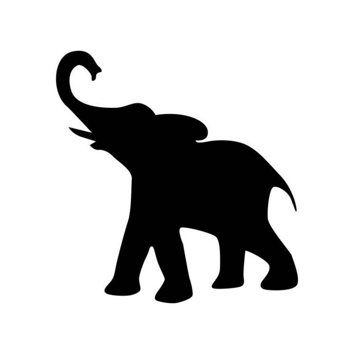 Elephant Animal Wildlife Graphics SVG Dxf EPS Png Cdr Ai Pdf Vector Art Clipart