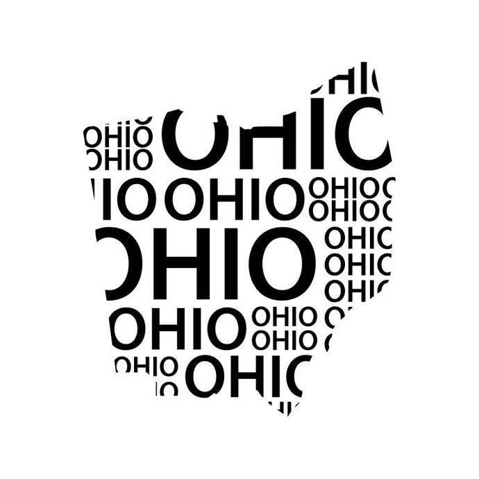 Ohio State Word Map Graphics SVG DXF EPS Png Cdr Ai Pdf Vector Art Clipart