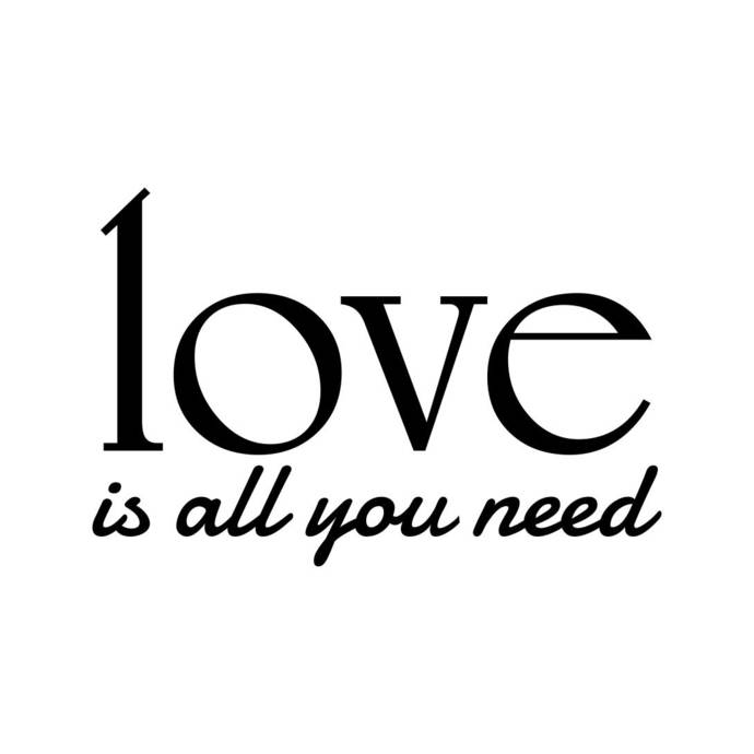 Love is all you need Phrase Sign Word Graphics SVG Dxf EPS Png Cdr Ai Pdf Vector
