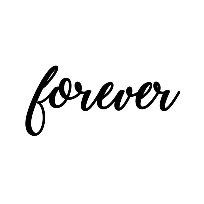 Forever Letter Sign Phrase Graphics Svg Dxf By