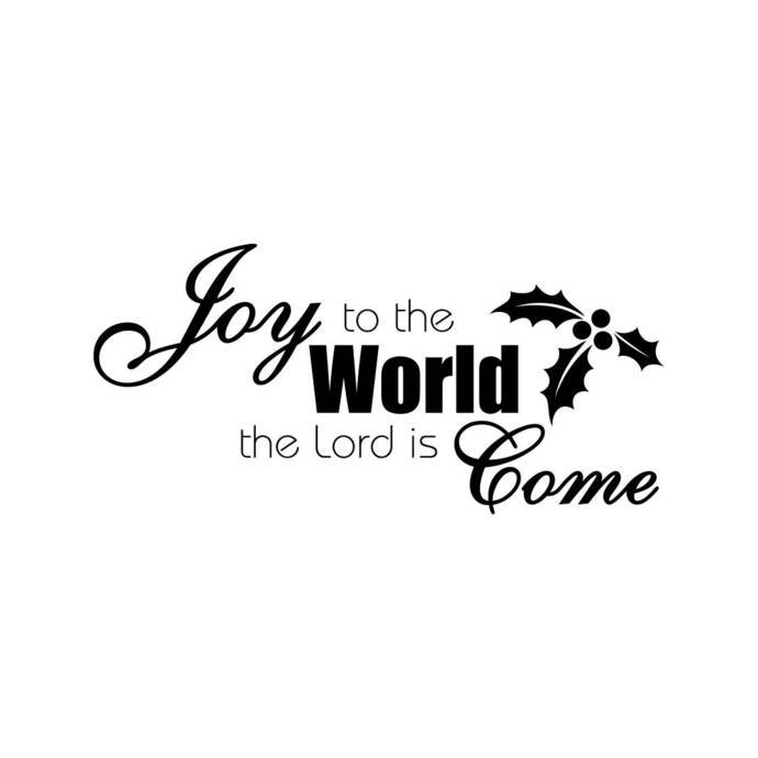 Joy to the World the Lord is Come Graphics SVG Dxf EPS Png Cdr Ai Pdf Vector Art
