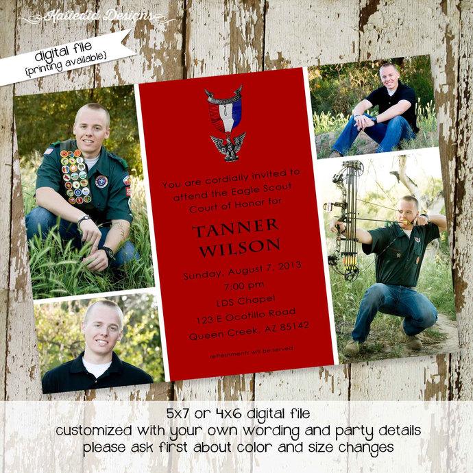 eagle scout court of honor invitations | lds eagle scout | graduation