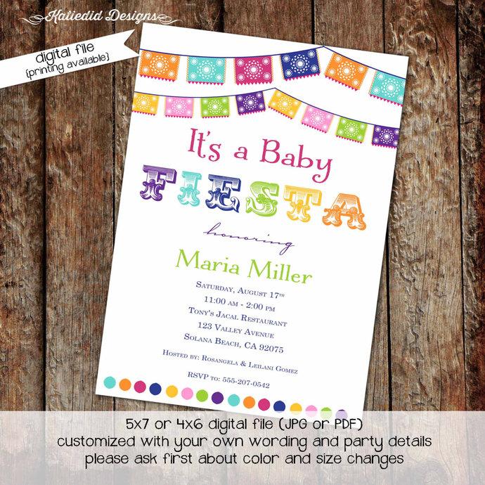 e21fecc1905a Fiesta baby shower invitation Mexican baby shower invitation Fiesta bridal