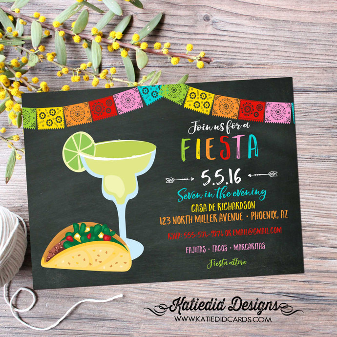 Papel Picado invitation Fiesta Bridal Shower Couples day of the dead cinco de