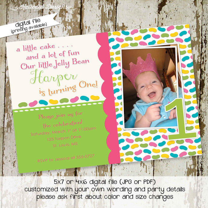 little girl 1st birthday invitation sonogram pregnancy announcement surprise