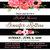black and white stripe shower invitation | floral chic invite | I do BBQ
