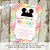 Little girl 1st birthday invitation Minnie Mouse mickey mouse disney themed baby