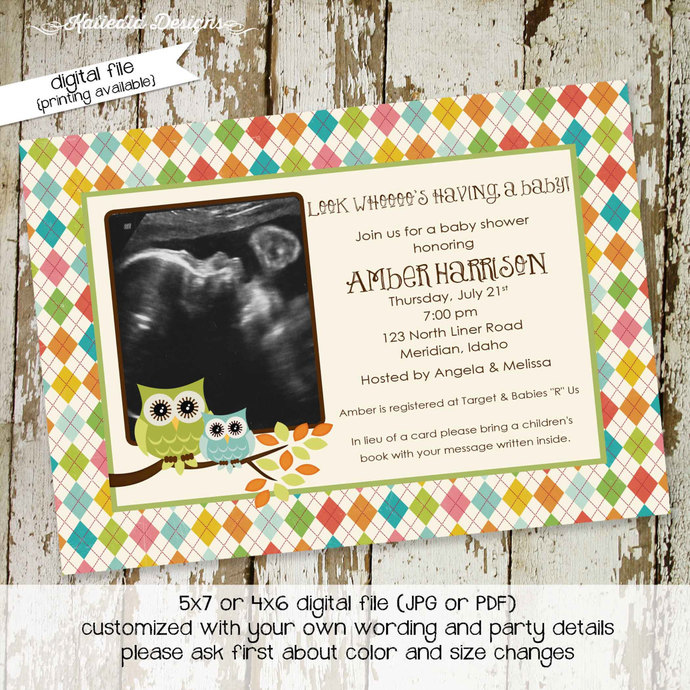 1e7a6dd22 sonogram pregnancy announcement baby sprinkle invitation girl surprise  gender