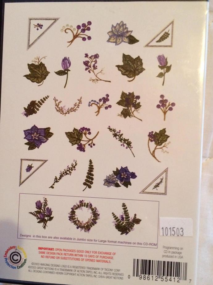 Amazing Designs - Nancy Zieman~ Nature's Bouquet- Collection 1 ADC-NZ14-