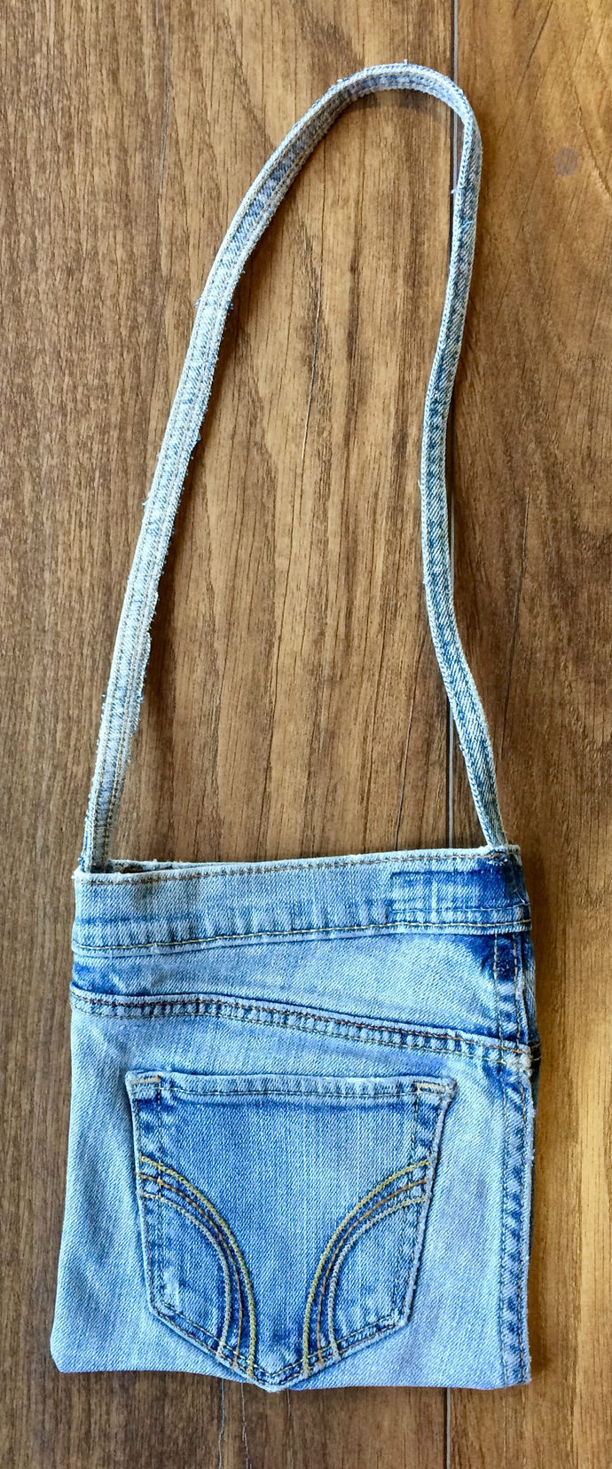 Upcycled Denim  Shoulder  Purse  Handmade Wallet Denim Wallet Gift For Her Denim