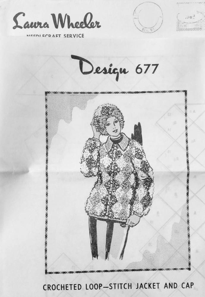 Laura Wheeler Vintage Crochet Pattern to Make Crochet Loop Stitch Jacket & Cap ~