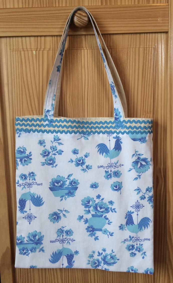 Vintage  Tote Bag Shoulder Bag Vintage Print Tote Bag  Shopping Bag Handmade