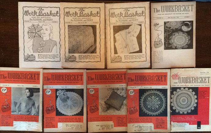 Workbasket Magazine 9 Issues 1948 By Yesterdazestitches On Zibbet