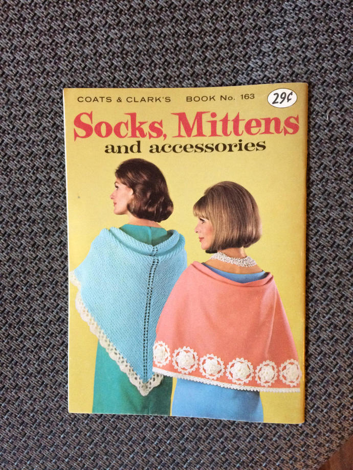 Coats and Clark Book No. 163 Knit and Crochet 1965 Vintage Book Retro  Knit