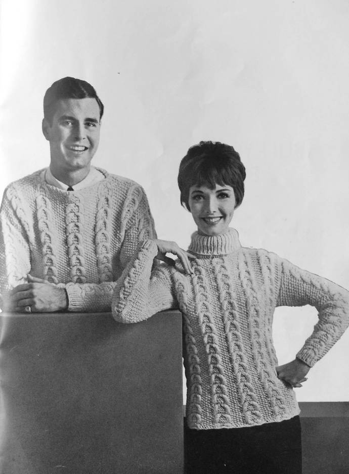 American Thread Company  Bulky Sweaters to Knit and Crochet 1960's Vintage Book