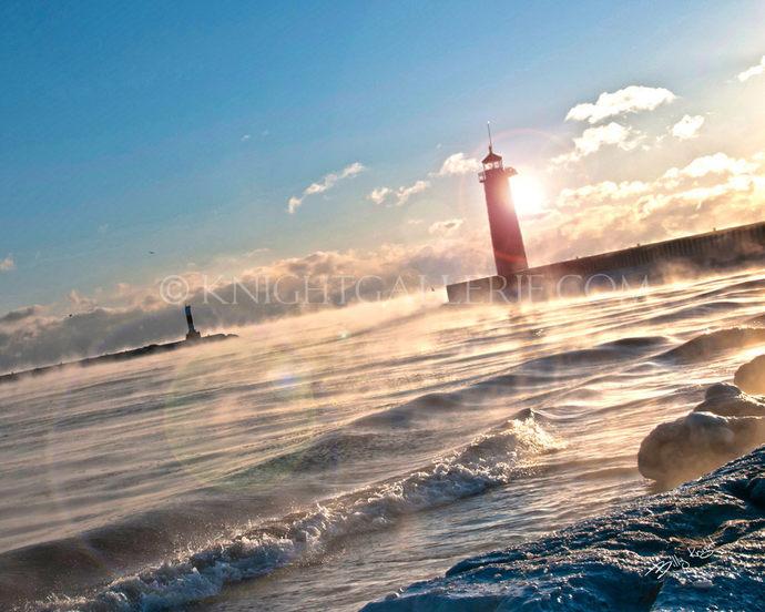 Lighthouse Portrait: Morning Sunflare