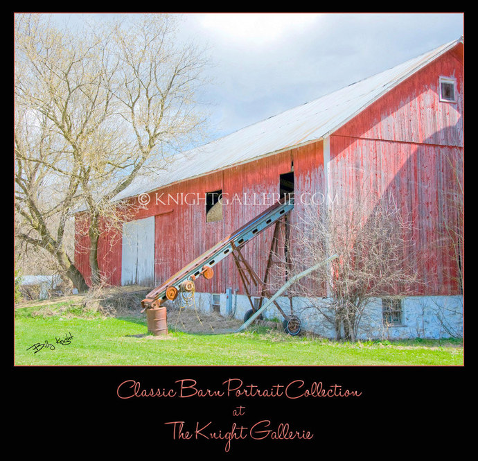 Classic Barn Portrait: My Neighbor's Big Red Barn