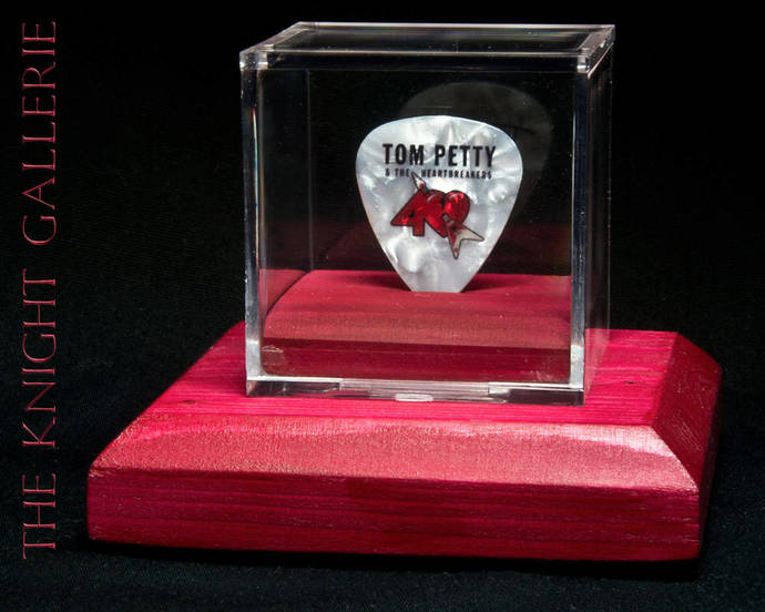 TOM PETTY: 40th anniversary guitar pick and display case
