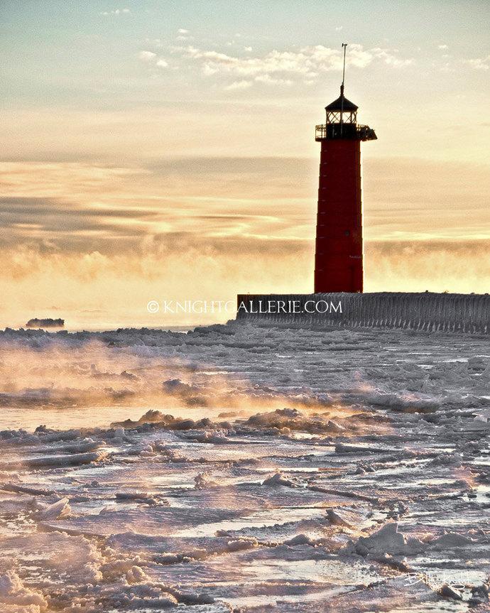 Winter Portrait: Kenosha Wisconsin Lighthouse