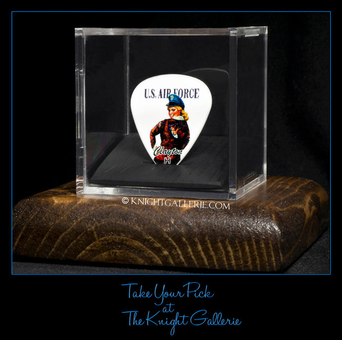 U. S. Air Force commemorative guitar pick and display case