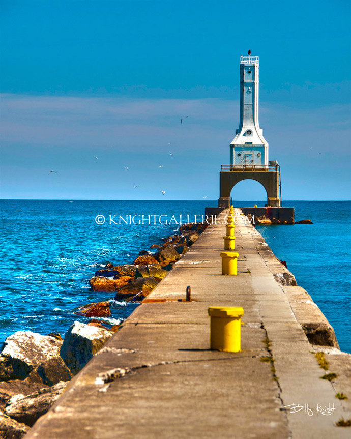 Lighthouse Portrait: Port Washington Wisconsin
