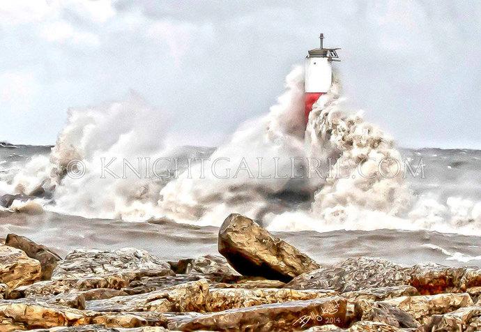 Lighthouse Portrait: November Fury
